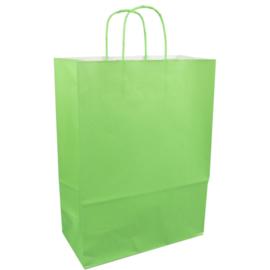 Papieren draagtas groen 26/12x35cm Tpk270632