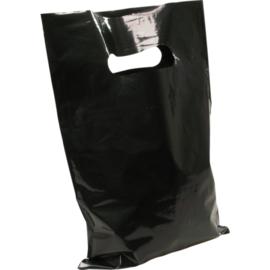 Draagtas zwart 50my 45x50cm 500st D210206