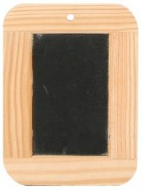 Krijtbordje met houten rand 9x12cm Td12960072