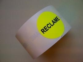 Etiket fluor geel 35mm Reclame 500/rol Td27513243