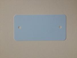 PVC-labels 54x108mm pastel blauw 2 gaten 1000st Td35987122