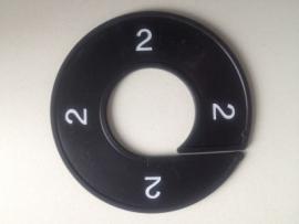 Maatring 9 cm zw/wit 2 Td05602002