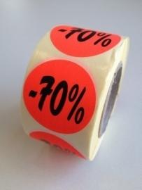 Etiket Ø35mm fluor rood 70% 500/rol Td27511770