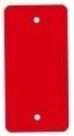 PVC-labels 54x108mm rood 2 gaten 1000st. Td35987116