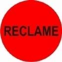 Etiket fluor rood 35mm Reclame 500 per rol Td27513242