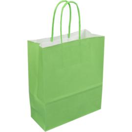 Papieren draagtas groen 18/8x22cm Tpk270630