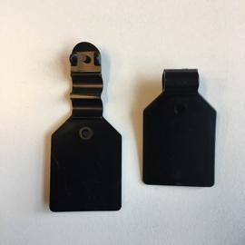 Scanvaantje zwart klein 25x25mm Td20993500zw
