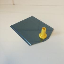 Voetplaat metaal geel Td12021403