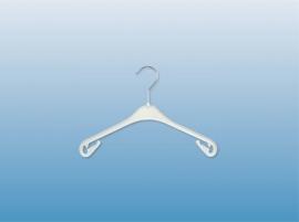 Kunststof kledinghanger wit 33cm 450st NA33W