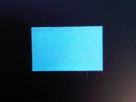 Etiket 26x16 rechthoek blauw permanent Td27173008