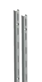 Wandrail ral 9006 enkele perforatie 150cm Tms10000-00034
