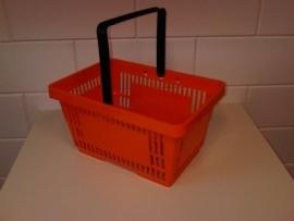 Winkelmandje oranje 1 handgreep 22 liter Td06000231