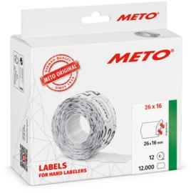 Prijsetiket Meto wit afneembaar 26x16mm Tpk522388
