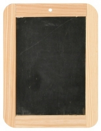 Krijtbordje met houten rand 14.5x19cm Td12960076