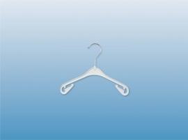 Kunststof kinder/baby hanger wit 26cm 500st NA26W
