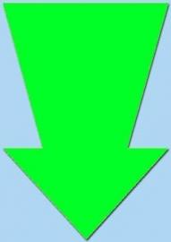 Pijl fluor groen 15cm 50st. Tfr15017P