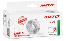 Prijsetiket Meto wit diepvries 26x16mm MT09517185