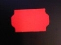 Etiket 32x19 golfrand fluor rood perm Td27213014