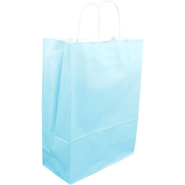 Draagtas hemelsblauw papier 26/12x35cm Tpk270166