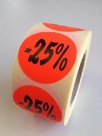 Etiket Ø35mm fluor rood 25% 500/rol Td27511725