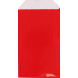 Cadeauzakje luxe rood 7x13cm 150st Tpk265341