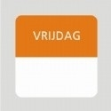 Etiket vrijdag wit/oranje 25x25mm 500st Td27510005