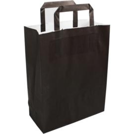 Draagtas zwart papier 22x10x28cm 250st Tpk270445
