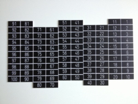 Zelfklevende nummerplaatjes 35x17mm 100st. Td99130905