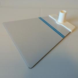 Voetplaat metaal trapezium wit voor NT buis Td12021501