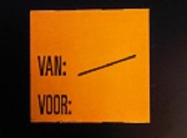 Etiket 2928 fluor oranje perm Van:/ Voor: Td27253095