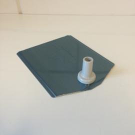 Voetplaat metaal grijs Td12021402
