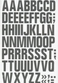 Magnetische letters 43mm wit/zwart Td13049105