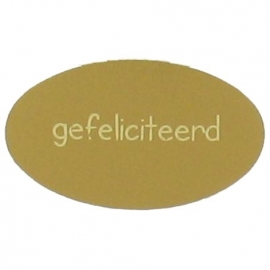 Etiket gefeliciteerd goud 500st Tpk548186