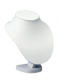 Collierhalsje 22cm wit kunstleder Tms5515