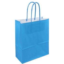 Draagtas papier blauw 18/8x22cm Tpk270625