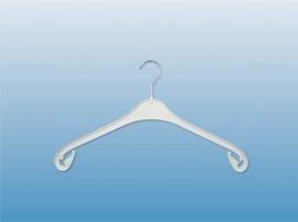 Kunststof kledinghanger wit 47cm 270st NA47W