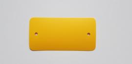 PVC-labels 54x108mm geel 2 gaten 1000st Td35987113