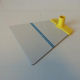 Voetplaat metaal trapezium geel voor NT buis Td12021503