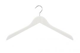 Houten hanger wit licht geknikt 100st HH01028