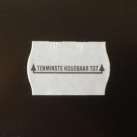 Etiket 25x16 golfrand wit permanent T.H.T. Td27183090