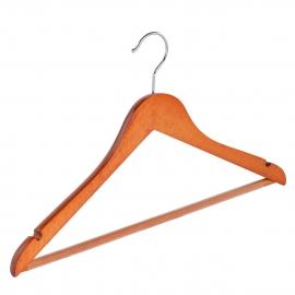 Beuken kledinghanger geknikt,antislip broeklat en inkepingen Tms7131