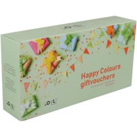 Cadeaubon Happy Colours assorti 24st Tpk730839