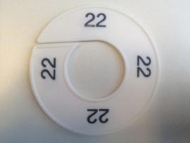 Maatring 9 cm wit/zw 22 Td05601022