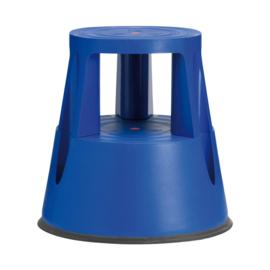 Olifantenpoot opstapkruk blauw kunststof VA313237