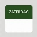 Etiket zaterdag wit/groen 25x25mm 500st Td27510006