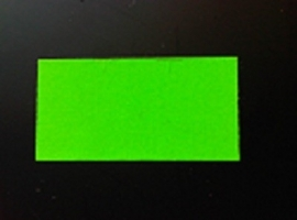 Etiket 37x19 fluor groen perm Td27283017