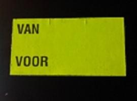 Etiket 37x19 fluor geel semie permanent VAN VOOR Td27283196