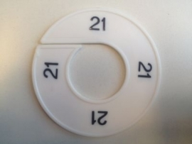 Maatring 9 cm wit/zw 21 Td05601021