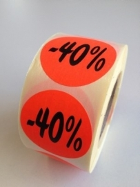 Etiket Ø35mm fluor rood 40% 500/rol Td27511740