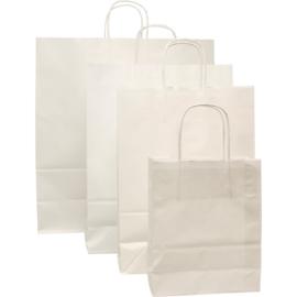 Papieren draagtas wit 18/8x22cm 100st Tpk270255